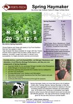 Spring Haymaker Solid Fertiliser Blend