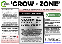 DRUM LABEL GROWZONE